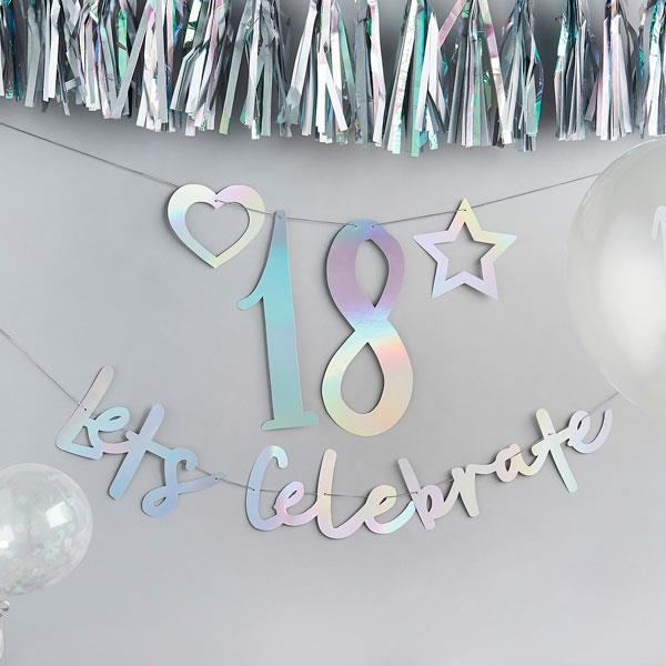 Iridescent Create Your Own Birthday Banner
