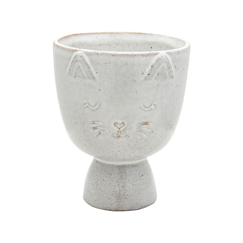 Speckled Cat Ceramic Planter