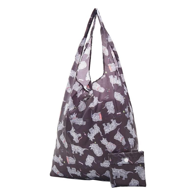 Black Scatty Scotty Foldable Shopper