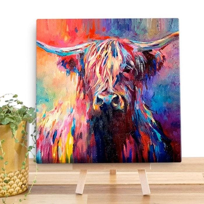 Highland Cow Canvas Art Print