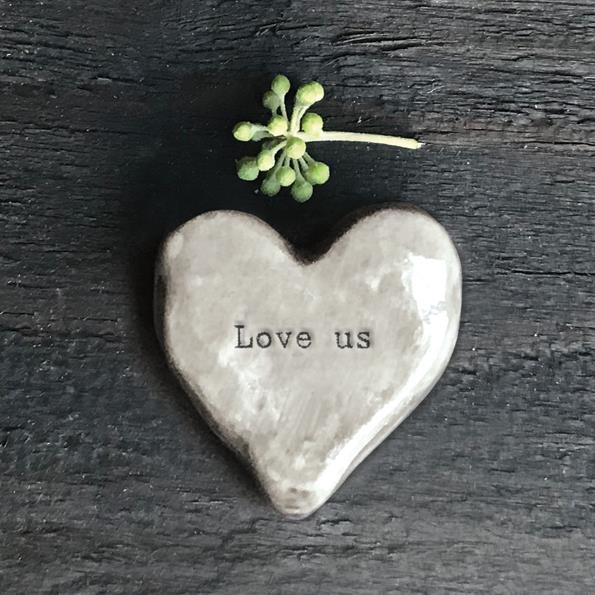 Love Us Heart Shaped Porcelain Token