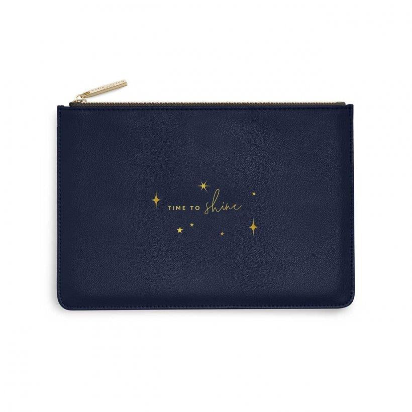 Time To Shine Metallic Navy Perfect Pouch