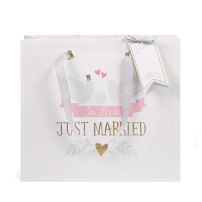 Lovebirds Just Married Gift Bag