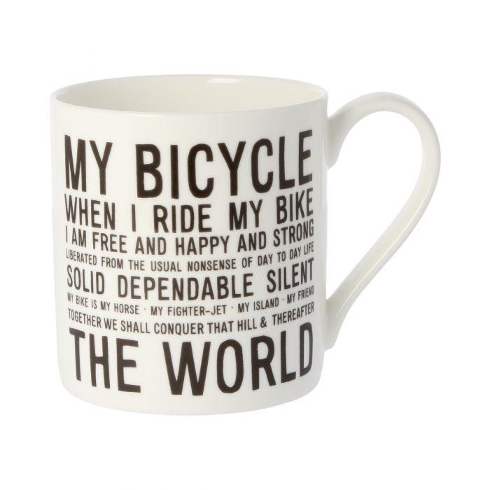 Bicycle Text Ceramic Mug