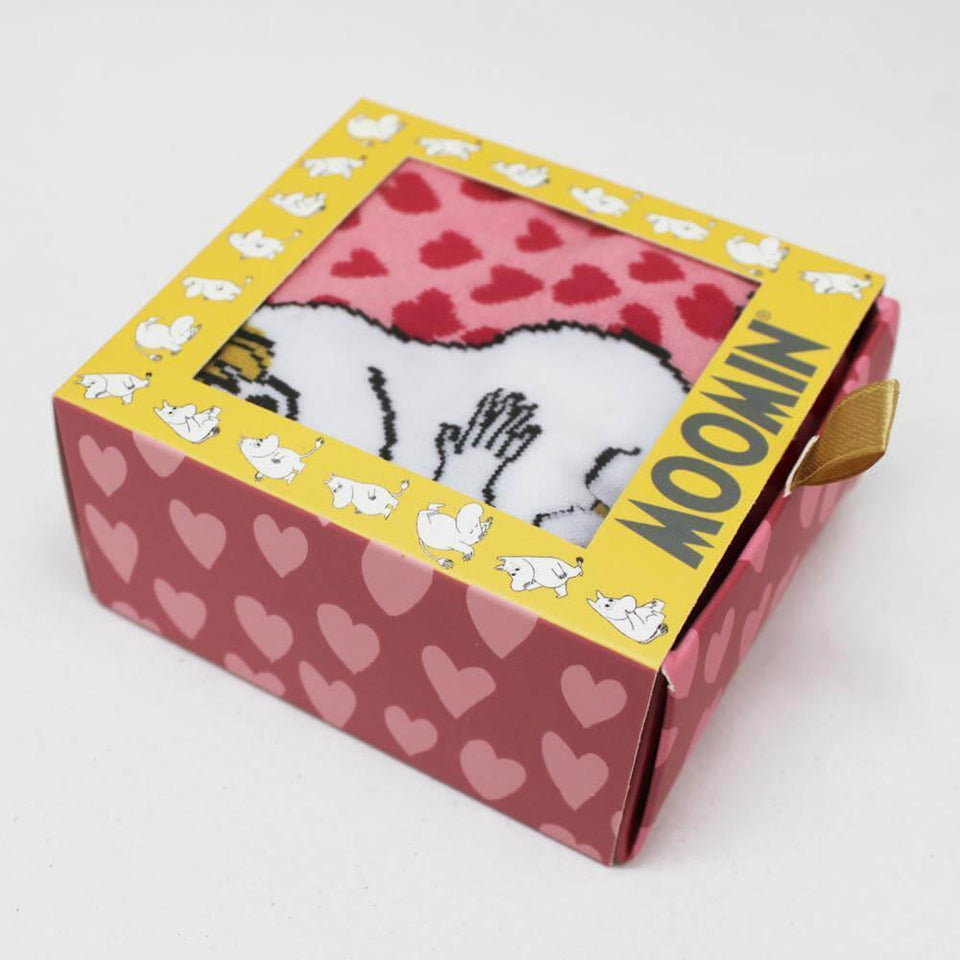 Moomin Heart Print Socks with Gift Box