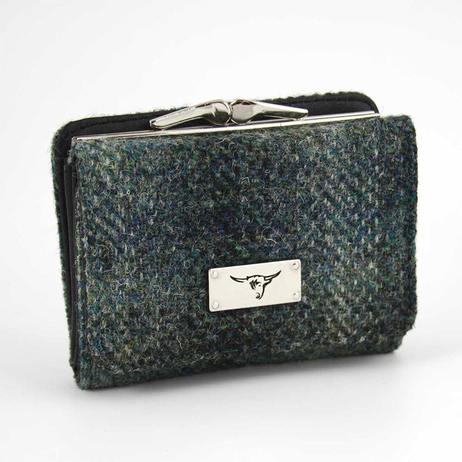 Moss Green Harris Tweed  Coin Purse