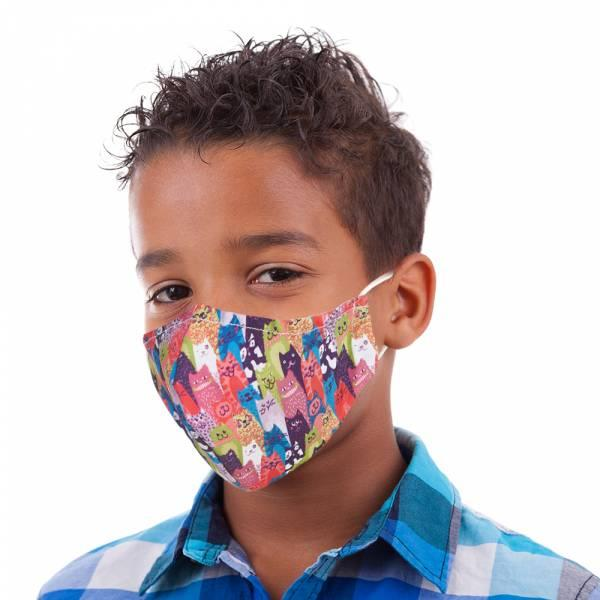 Stacking Cats Kid's Face Mask