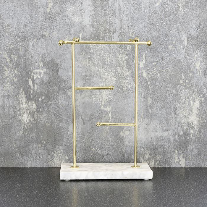 Gold Jewellery Stand with Marble Base