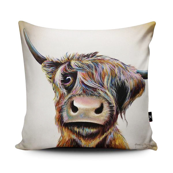 Bad Hair Day Cow Cushion