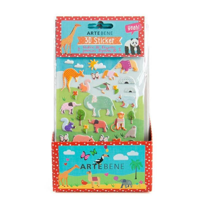 Animal 3D Stickers Sheet - Assorted