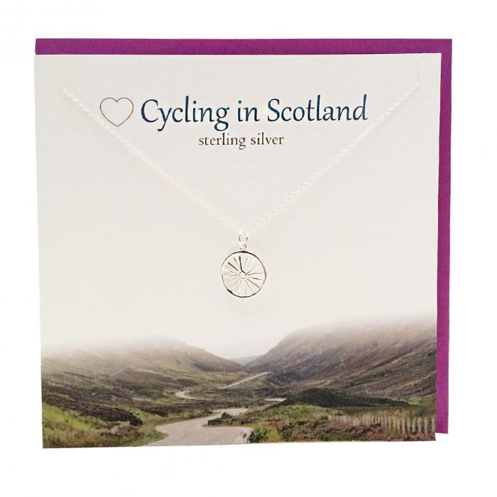 Love Cycling In Scotland Pendant Necklace