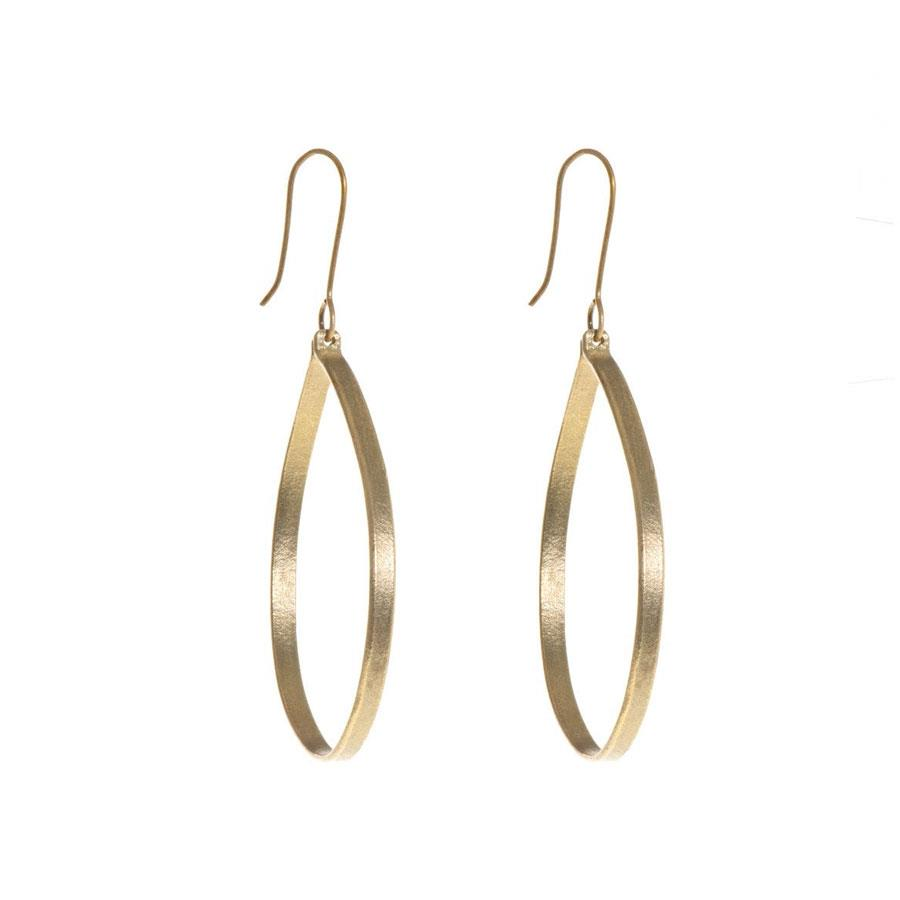 Ruthi Large Round Brass Earrings