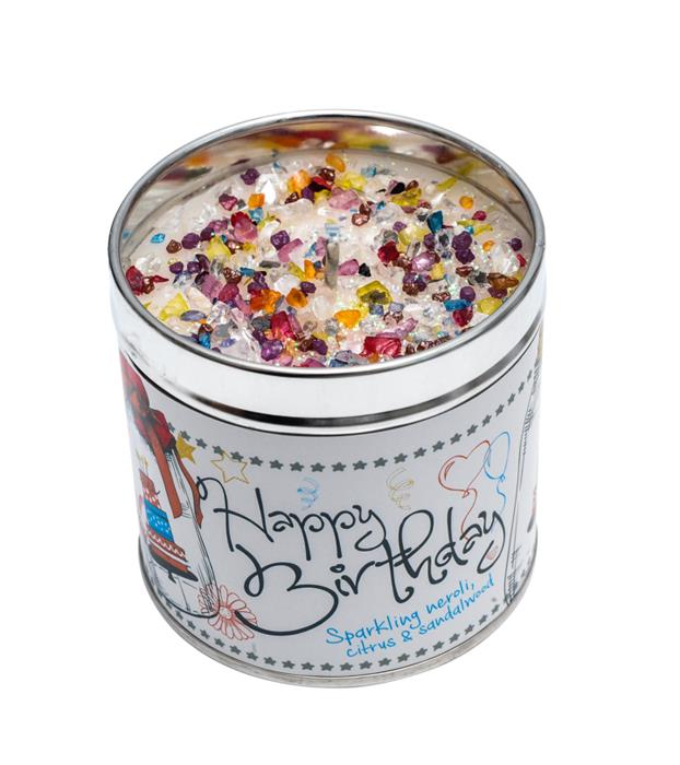 Just Because Happy Birthday Candle Tin