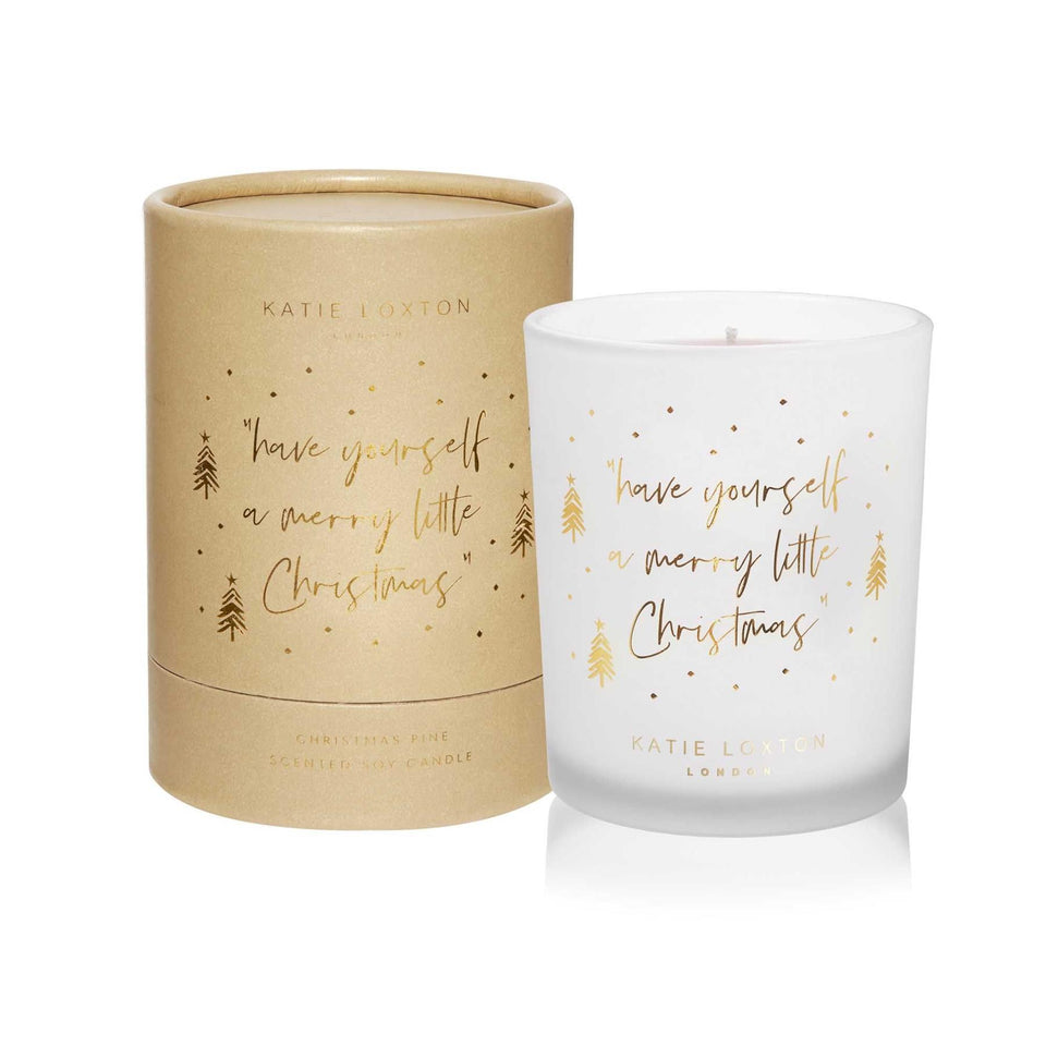 A Merry Little Christmas Gold Shimmer Candle