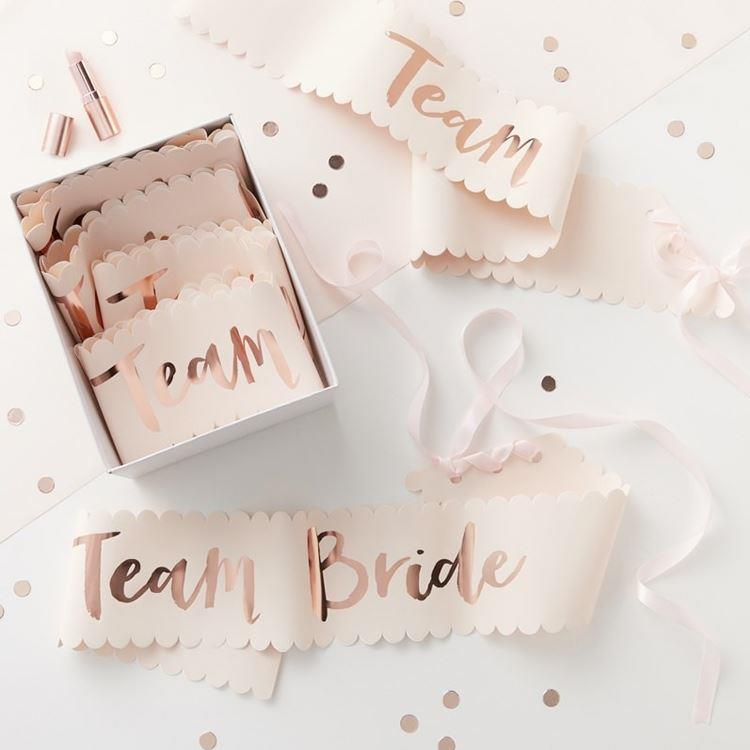 Team Bride Sash | Pack of 6