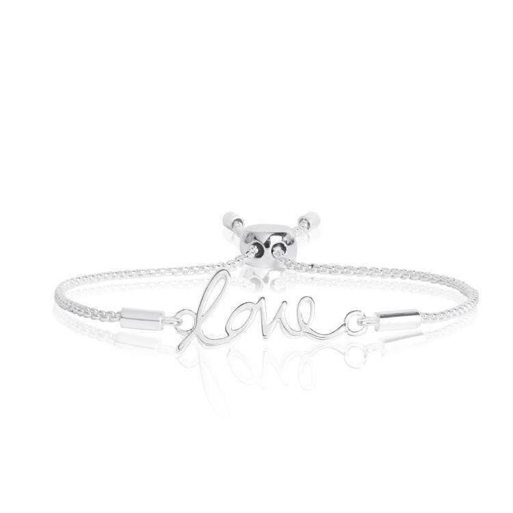 Sentiment Message 'Love' Silver Bracelet