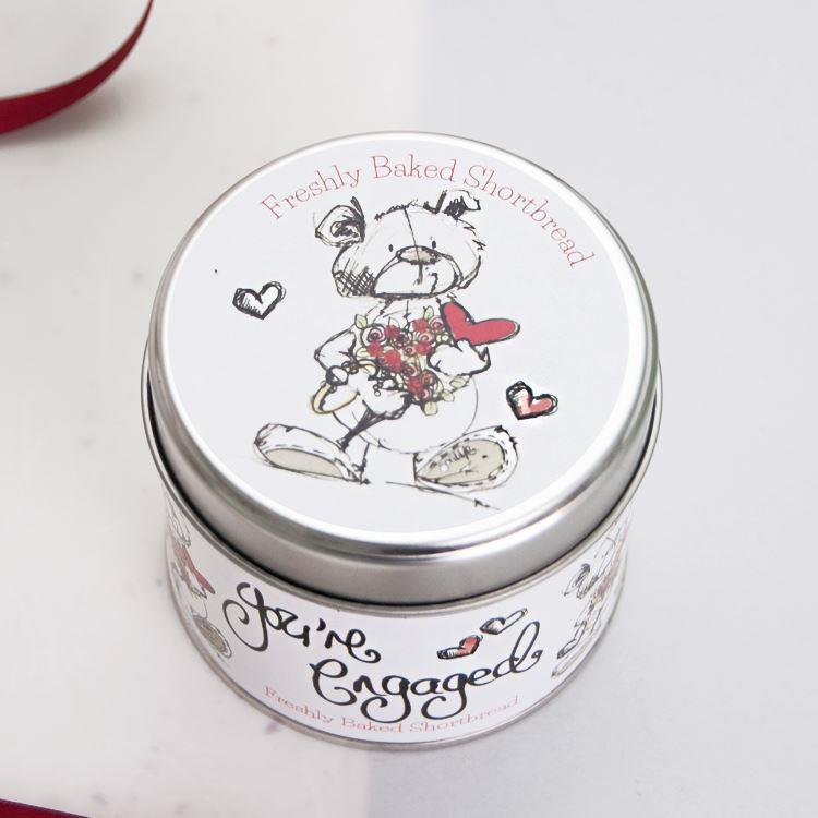 You're Engaged Teddy Bear Candle Tin