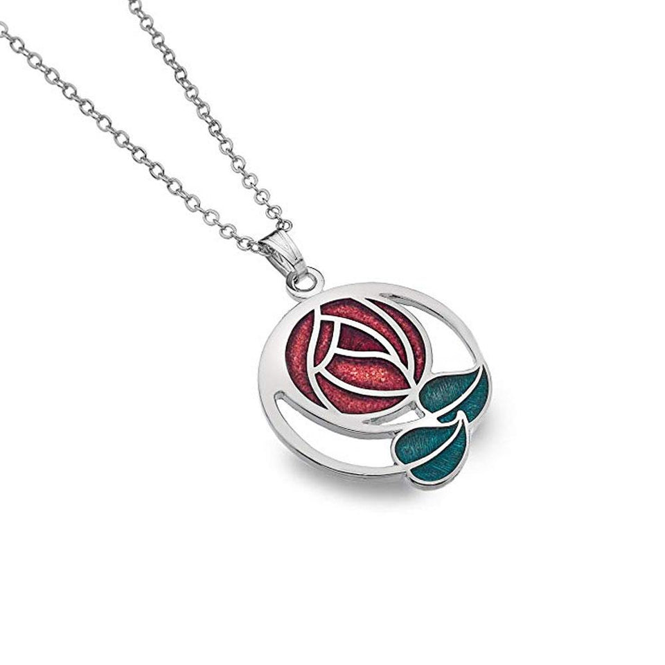 Mackintosh Red Rose Coils Pendant Necklace