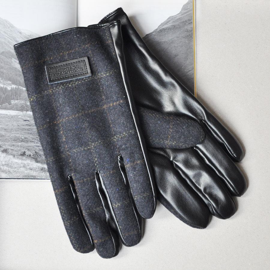 Heritage Tweed Blue Box Tweed Men's Gloves