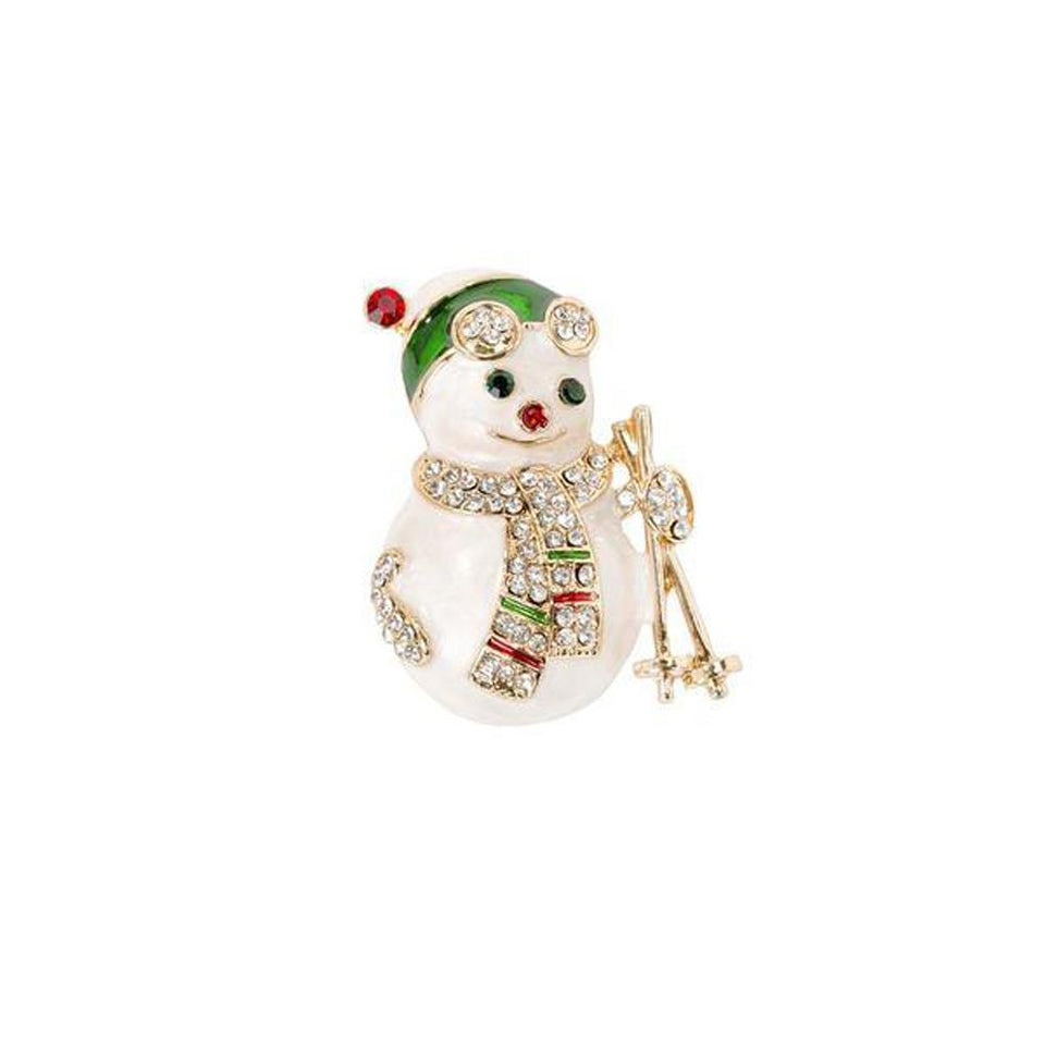 Snowman Enamel Badge