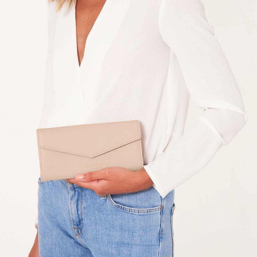 Nude Pink Esme Envelope Purse