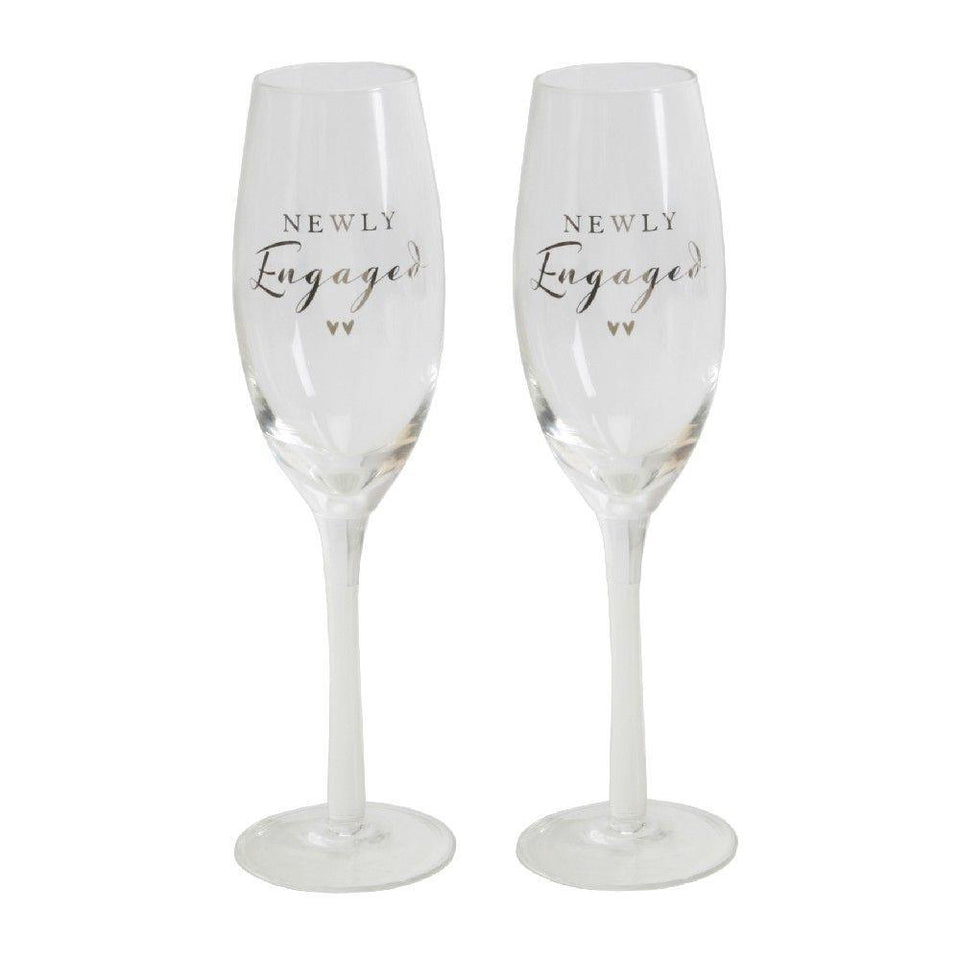 Amore Engagement Champagne Flutes