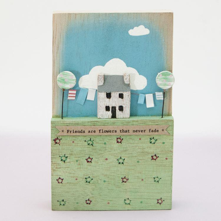 Friends Are Flowers Tall Season Plaque