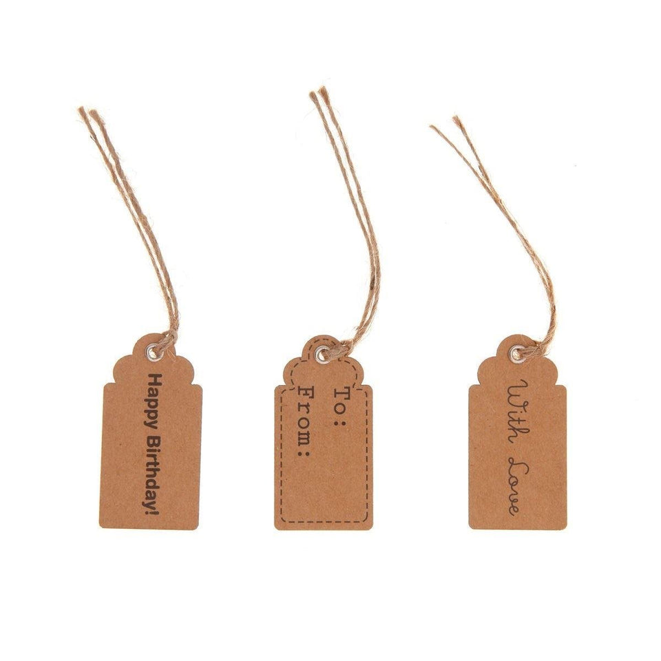 Natural Message Tags | Set of 15