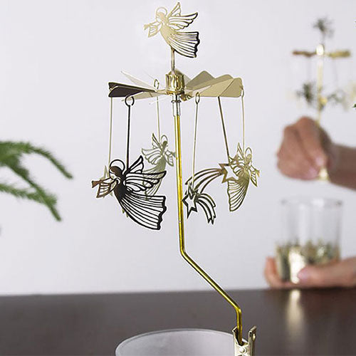 Flying Angel Stars Tea Light Rotary Clip On