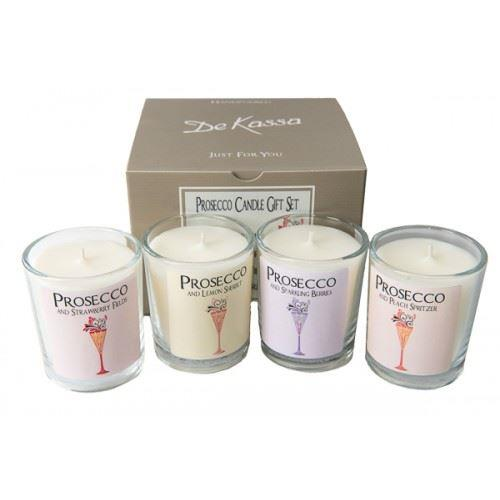 Prosecco Candle Gift Set of 4