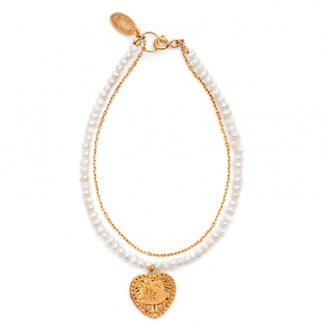 Swan and Pearl Bracelet | Gold