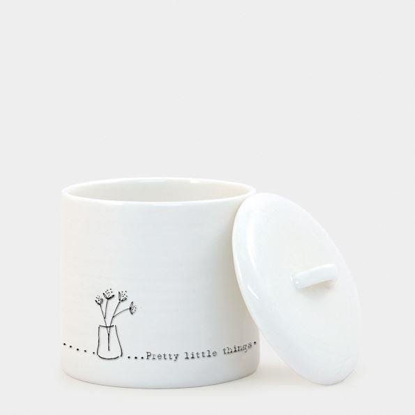 Pretty little things' Porcelain Trinket Pot