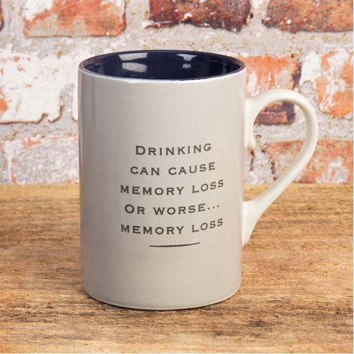 Drinking Can Cause Memory Loss Emporium Stoneware Mug