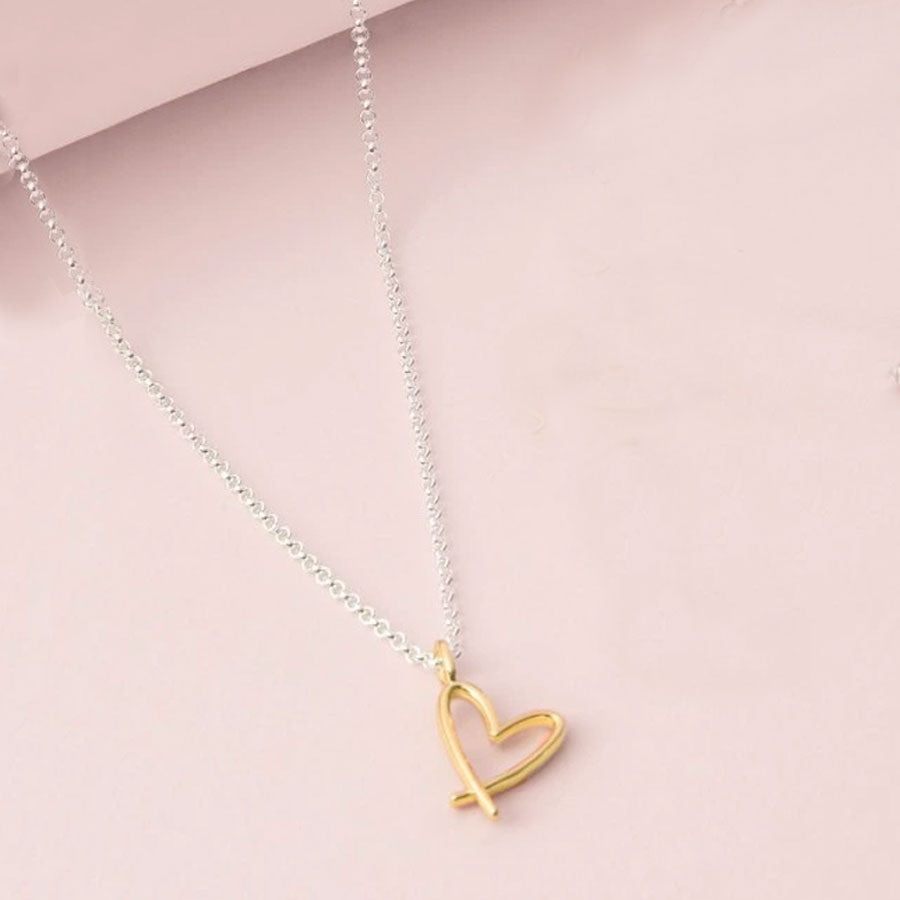 A Little Beautiful Friend Heart Charm Necklace