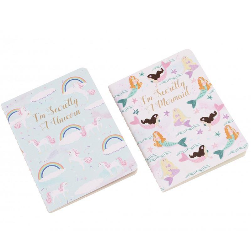 Mermaid & Unicorn A6 Notebooks | Set of 2