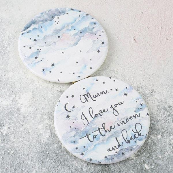Moon and Stars Mum Compact Mirror
