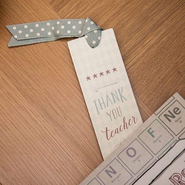 Thank You Teacher Stars Bookmark