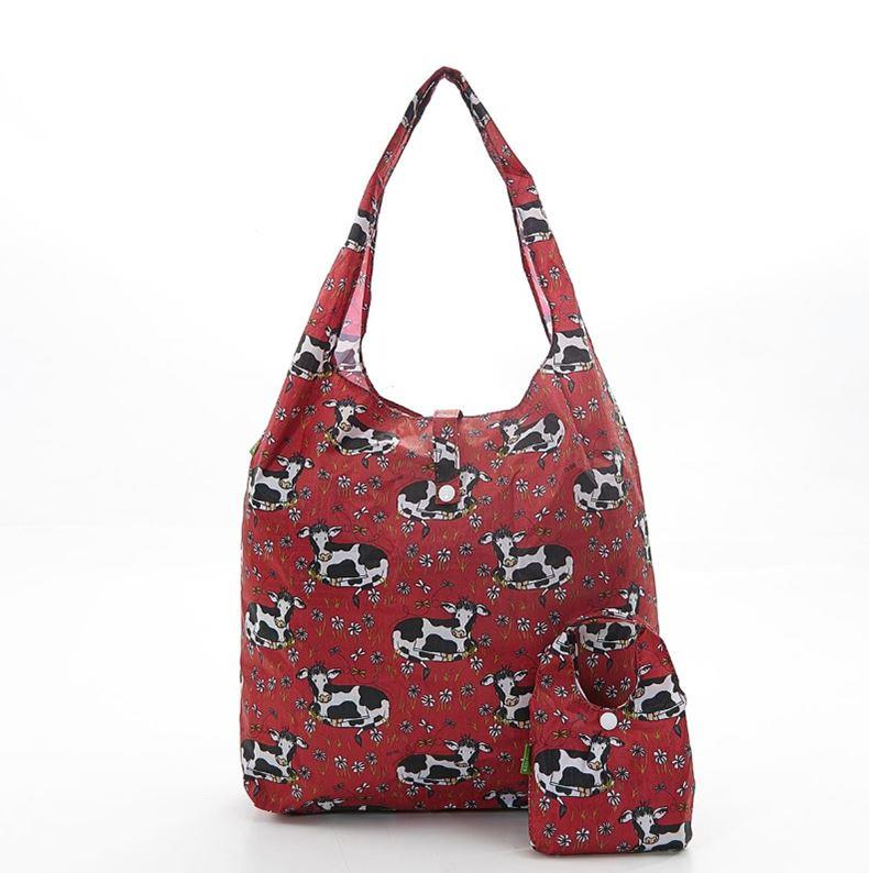 Friesian Cow Foldable Eco Shopper Bag | Assorted