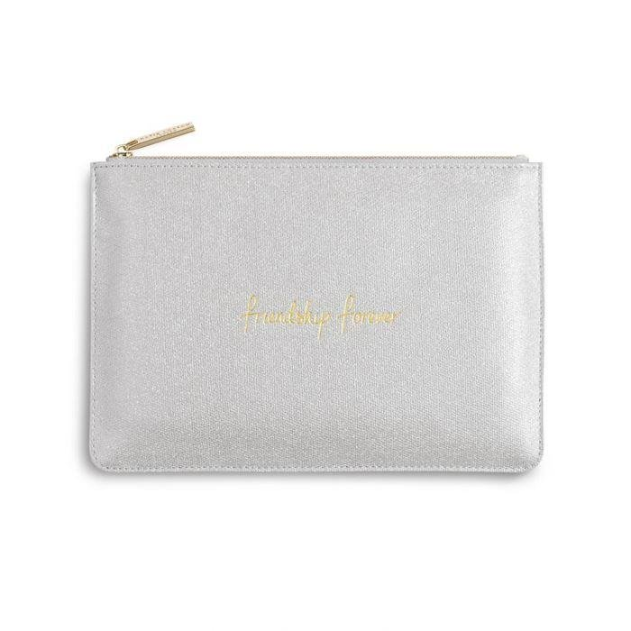 Silver Shimmer Friendship Perfect Pouch