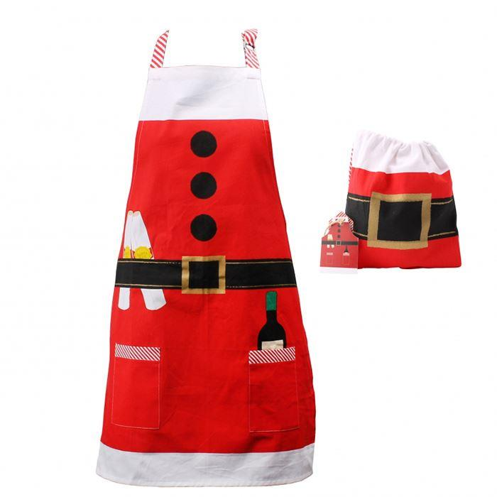 Adult Santa Apron And Bag