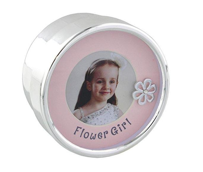Flower Girl Silverplated Trinket Box with Frame Lid