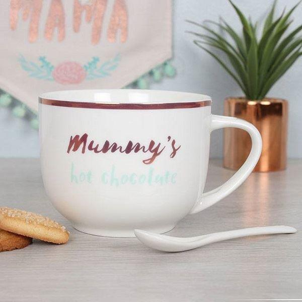 Mummy's Hot Chocolate Mug and Spoon Set