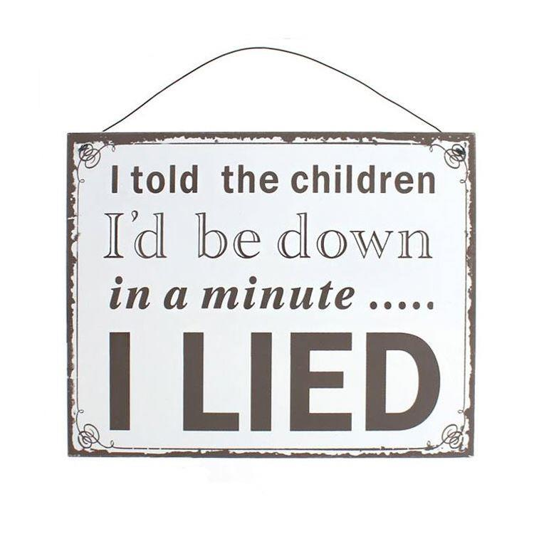 Told Children In a Minute Large Sign