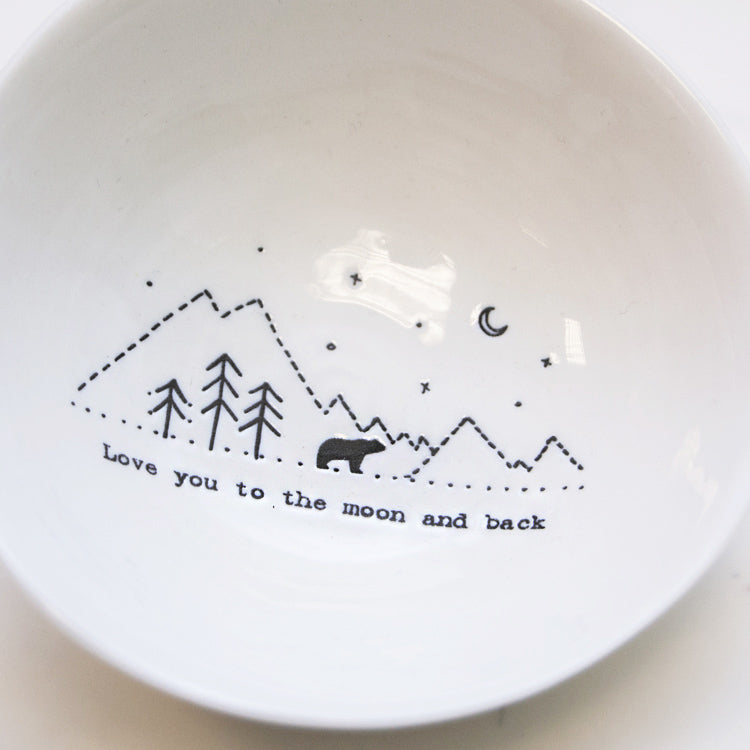 Love You to the Moon Medium Wobbly Bowl