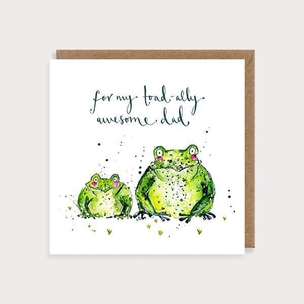 Toad-ally Awesome Dad Card