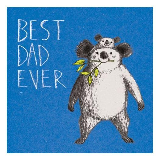 Best Dad Ever Koala Card