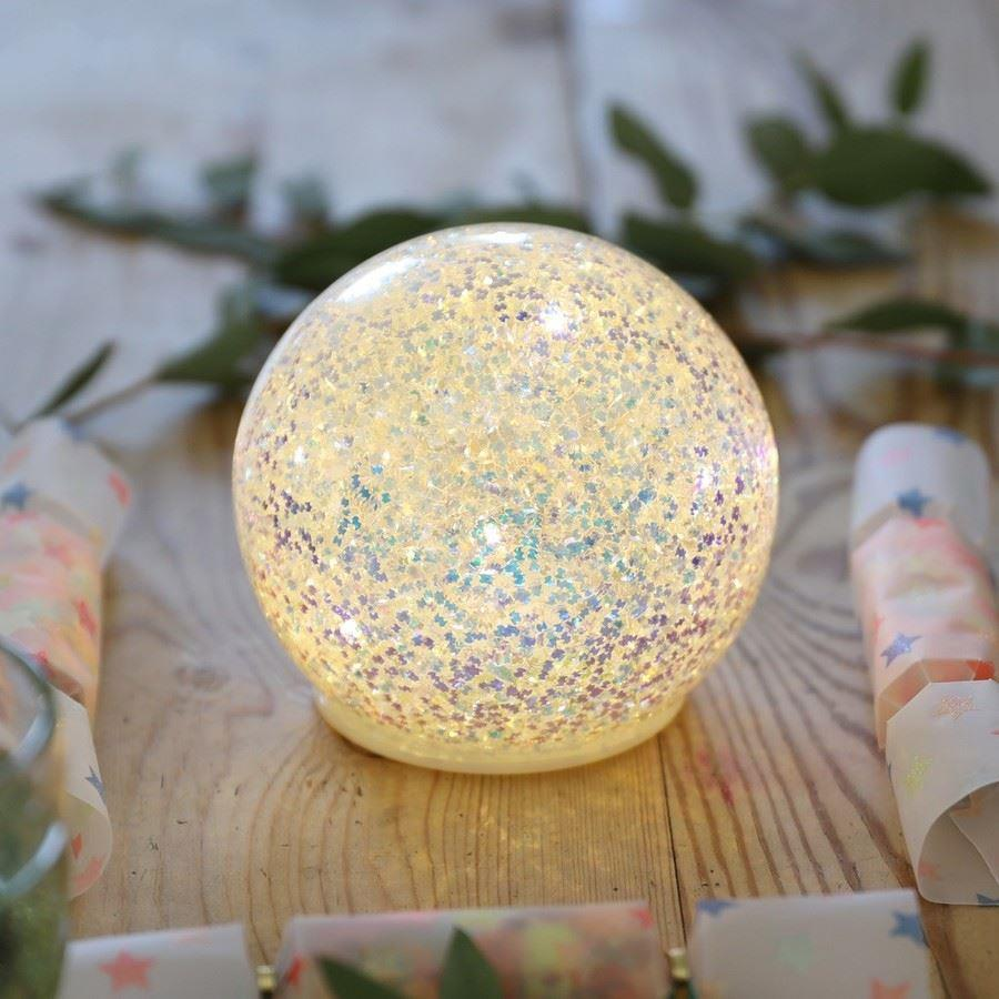 Large Iridescent Glitter Round Standing Decoration