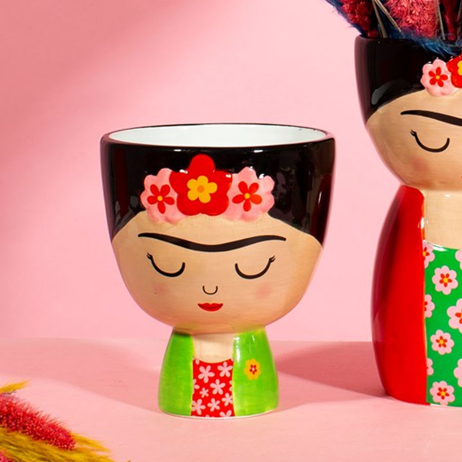Frida Kahlo Shaped Planter