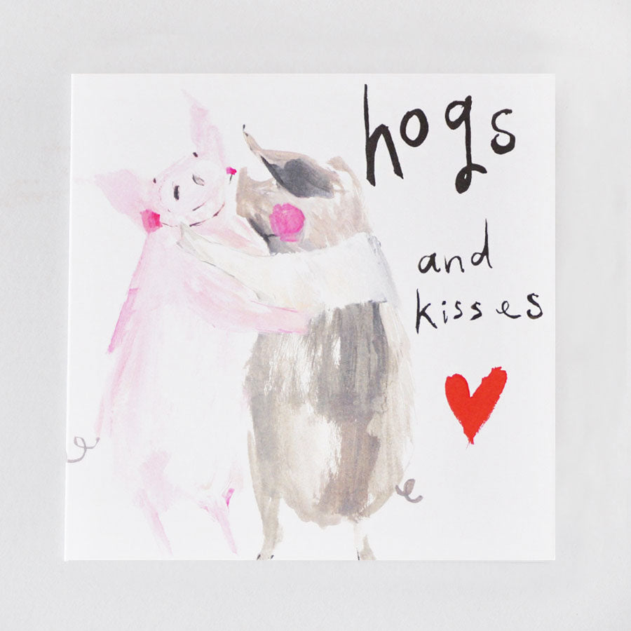 Hogs & Kisses Card