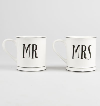 Mr & Mrs Mug Set